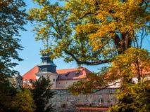 Kasteel in Pieskowa Skala Stock Fotografie