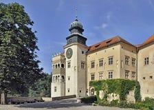 Kasteel Pieskowa Skala in Polen stock afbeelding