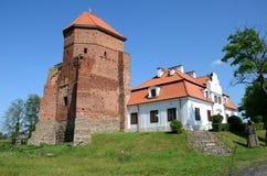 Kasteel in Polen Stock Afbeeldingen