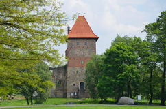 Kasteel in Polen (Chudà ³ w) Royalty-vrije Stock Foto's