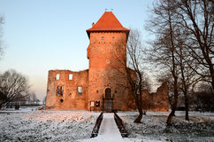 Kasteel in Polen Chudow Royalty-vrije Stock Foto's