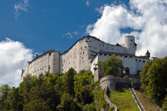 Kasteel in Salzburg Stock Afbeelding