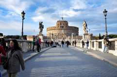 Kasteel San Angelo in Rome, Italië Royalty-vrije Stock Foto