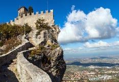 Kasteel in San Marino stock foto