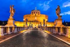 Kasteel Sant Angelo, Rome Stock Afbeeldingen