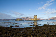 Kasteel Stalker, Argyll, Schotland Stock Foto's