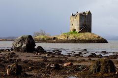 Kasteel Stalker - Schotland Royalty-vrije Stock Foto's