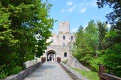 Kasteel StreÄ  nr, de geschiedeniskasteel van Slowakije Stock Foto