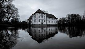 kasteel struenkede Herne zwart-wit Duitsland Stock Afbeeldingen