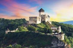 Kasteel Trencin, Slowakije royalty-vrije stock afbeelding