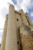 Kasteel in Valencia de Don Juan, Castilla en Leon Stock Afbeeldingen
