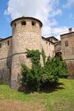 Kasteel van Agazzano. Emilia-Romagna. Italië. Stock Foto's
