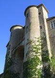 Kasteel van Aubenas, Ardeche, de Provence, Frankrijk Stock Foto