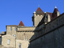 Kasteel van Aubenas, Ardeche, de Provence, Frankrijk Stock Foto's