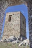 Kasteel van Belmez Toren van hulde, Cordoba, Spanje Royalty-vrije Stock Foto's