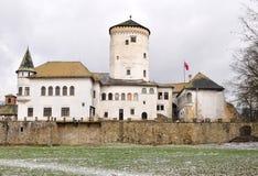 Kasteel van Budatin, Zilina, de republiek van Slowakije stock foto