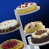 Kasteel van cakes stock afbeeldingen
