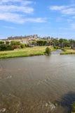 Kasteel van Carcassonne royalty-vrije stock fotografie