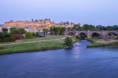 Kasteel van Carcassonne Stock Foto's