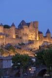 Kasteel van Carcassonne Stock Afbeeldingen