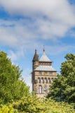 Kasteel van Cardiff, Wales, het UK stock fotografie
