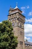 Kasteel van Cardiff, Wales, het UK royalty-vrije stock foto's