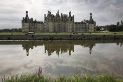 Kasteel van Chambord, de Vallei van de Loire Stock Foto's
