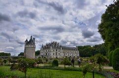 Kasteel van Chenonceau, de Loire-gebied, Frankrijk 27 juni, de momentopname van 2017 Stock Foto's