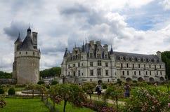 Kasteel van Chenonceau, de Loire-gebied, Frankrijk 27 juni, de momentopname van 2017 Royalty-vrije Stock Afbeeldingen