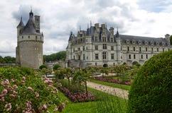 Kasteel van Chenonceau, de Loire-gebied, Frankrijk 27 juni, de momentopname van 2017 Royalty-vrije Stock Fotografie