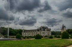 Kasteel van Chenonceau, de Loire-gebied, Frankrijk 27 juni, de momentopname van 2017 Stock Afbeeldingen