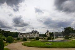 Kasteel van Chenonceau, de Loire-gebied, Frankrijk 27 juni, de momentopname van 2017 Stock Fotografie