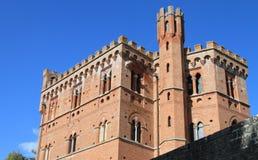 Kasteel van Chianti, Italië royalty-vrije stock foto