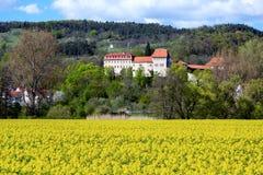 Kasteel van Creuzburg in Thuringia Duitsland royalty-vrije stock afbeeldingen