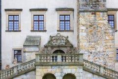 kasteel van de 14de eeuw het middeleeuwse Nowy Wisnicz, Polen royalty-vrije stock afbeelding