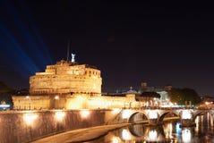 Kasteel van de Heilige Engel in Rome stock fotografie