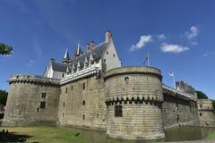 Kasteel van de Hertogen van Bretagne, Nantes, Frankrijk Royalty-vrije Stock Afbeeldingen