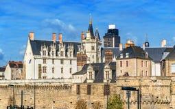 Kasteel van de Hertogen van Bretagne in Nantes, Frankrijk Stock Afbeelding