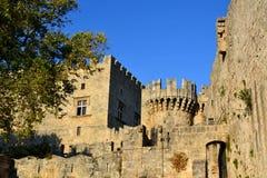 Kasteel van de Ridders, Oude Stad van Rhodes Island, Griekenland, Europa Royalty-vrije Stock Foto's