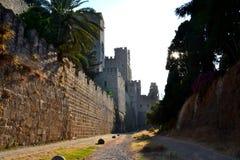 Kasteel van de Ridders, Oude Stad van Rhodes Island, Griekenland, Europa Royalty-vrije Stock Afbeelding