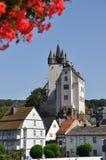 Kasteel van Diez, Duitsland Stock Foto