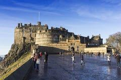 Kasteel van Edinburgh, het Verenigd Koninkrijk Royalty-vrije Stock Foto's