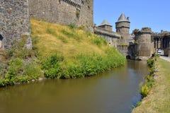 Kasteel van Fougeres in Frankrijk Royalty-vrije Stock Foto's