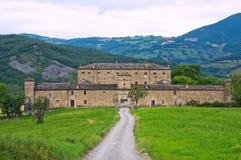 Kasteel van Golaso. Varsi. Emilia-Romagna. Italië. royalty-vrije stock foto's