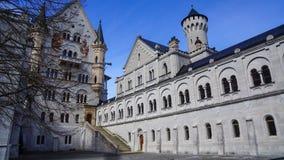 Kasteel van het kasteel neuschwanstein het wereldberoemde sprookje royalty-vrije stock foto