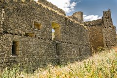 Kasteel van Hornillos DE Cerrato Palencia, Castilla en Leon, Spanje royalty-vrije stock afbeeldingen
