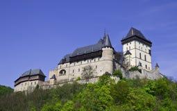 Kasteel van Karlstein in Tsjechische Republiek Royalty-vrije Stock Foto