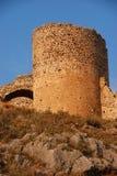 Kasteel van larisa, Griekenland royalty-vrije stock afbeelding