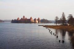 Kasteel van Litouwse koningen Trakai royalty-vrije stock afbeelding