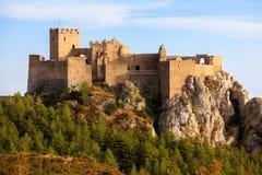 Kasteel van Loarre, Spanje stock afbeeldingen